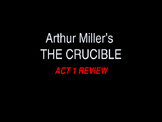 The Crucible Act 1 PowerPoint Review