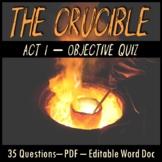 The Crucible Act 1 Quiz