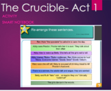 The Crucible Act 1 SmartNotebook Sequence of Events Activity -Arthur Miller