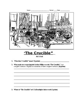 The Crucible Act 1 Test and key