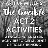 The Crucible Act 2 Activities: Literary Analysis - DISTANCE LEARNING