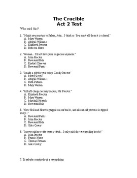 The Crucible Act 2 Test