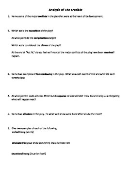 The Crucible Act 2 and 3 Quiz