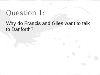 The Crucible- Act 3 Discussion Questions
