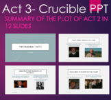 The Crucible - Act 3 PPT Overview Review Summary