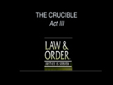 The Crucible Act 3 PowerPoint Review