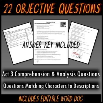 The Crucible Act 3 Quiz
