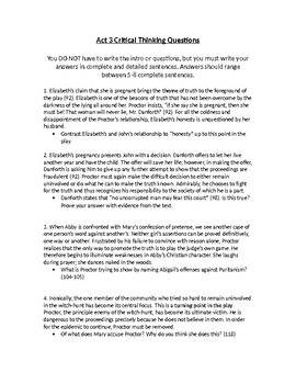 The Crucible Act 3 questions