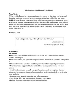 The Crucible Act Four Packet