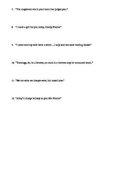 The Crucible Act II Quiz