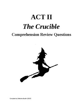 The Crucible Act II Review and Comprehension Questions