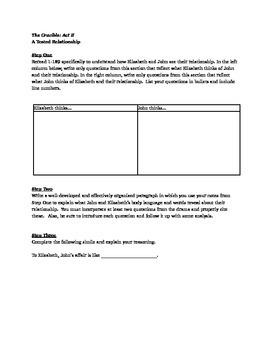 The Crucible: Act II Worksheets