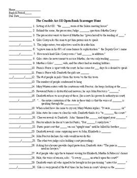The Crucible Act III Scaven... by Lonnie Jones Taylor | Teachers ...