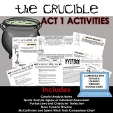 The Crucible Activities for Act 1