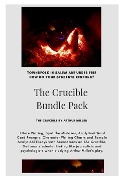 The Crucible - Analytical Writing, Bundle Pack