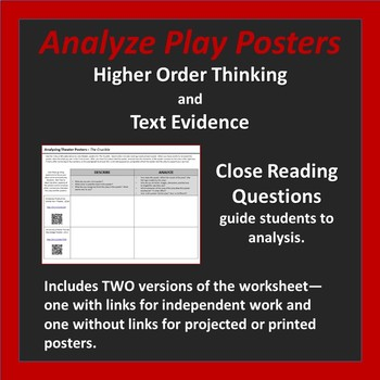 The Crucible - Analyzing Theater Posters