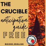 The Crucible Anticipation Guide (PDF Google Form, Google S