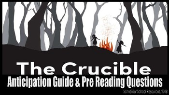 The Crucible: Anticipation Guide and Pre Reading Questions