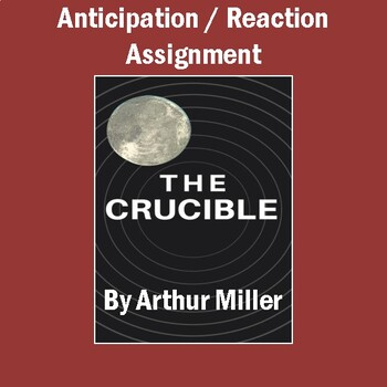 """""""The Crucible"""" Anticipation / Reaction Assignment"""