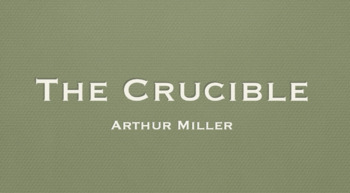The Crucible Background Notes - Key Note