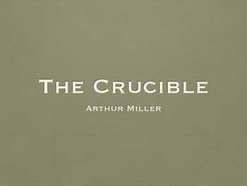 The Crucible Background Notes: PDF