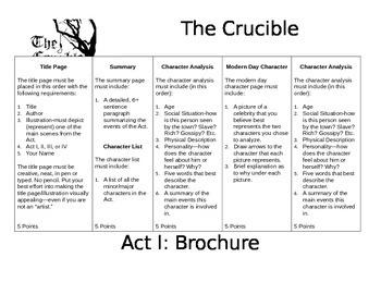 The Crucible: Brochure