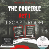 The Crucible By Arthur Miller: Act 1 Engaging Escape Room