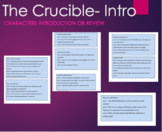The Crucible Character Card Game Cooperative Learning -Art