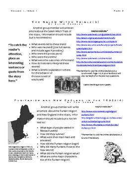 The Crucible Chronicle - A Group Newspaper Research Project
