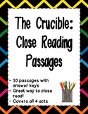 The Crucible - Close Reading Passages and Annotation