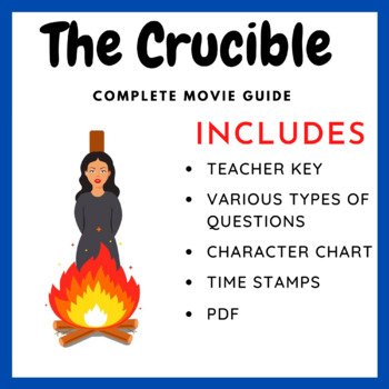 The Crucible Worksheet Teaching Resources Teachers Pay Teachers