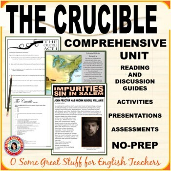 THE CRUCIBLE Comprehensive Unit-Comprehension,Analysis,Creativity,Collaboration