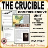 THE CRUCIBLE COMPLETE UNIT Digital-Enabled PDFs  NO PREPARATION