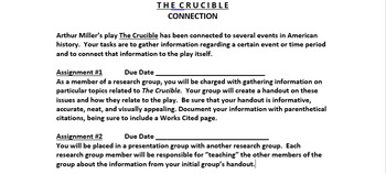 The Crucible Connection Research Project