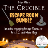 """The Crucible"" Unit Review Escape Room Activities Bundle: Act 1, 2, & Whole Play"