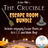 """""""The Crucible"""" Unit Review Escape Room Activities Bundle:"""