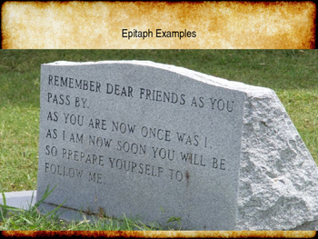 The Crucible Eulogy/Epitaph Assignment