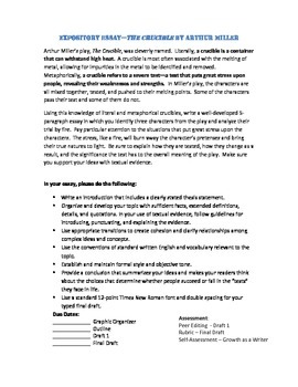 The Crucible-Expository Essay Task- CCSS aligned w/ graphic organizers