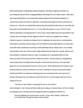 The Crucible: Grammar Exercises