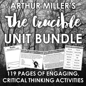 The Crucible Unit Growing Bundle: Engaging Activities