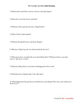 The Crucible Guided Reading
