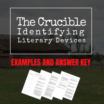 The Crucible: Identifying Literary Devices