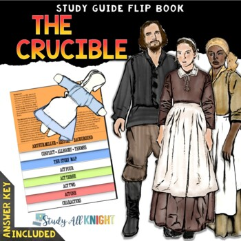 THE CRUCIBLE READING LITERATURE GUIDE FLIP BOOK