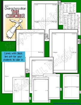 THE CRUCIBLE: INTERACTIVE NOTEBOOK CHARACTERIZATION MINI FLIP