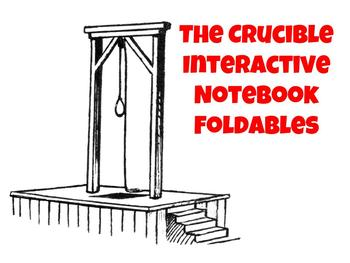 The Crucible Interactive Notebook Foldables