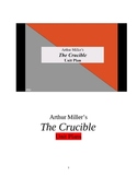 The Crucible Lesson Plans 78 pages of activities.