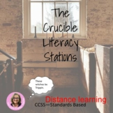 The Crucible Novel Study Literacy Stations Distance Learning