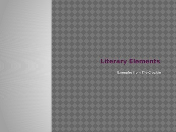 Literary Elements Bundle - The Crucible