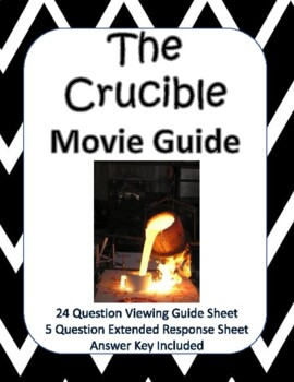 The Crucible Movie Guide - New Product!