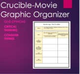 The Crucible Movie Guide Graphic Orgnaizer -Arthur Miller